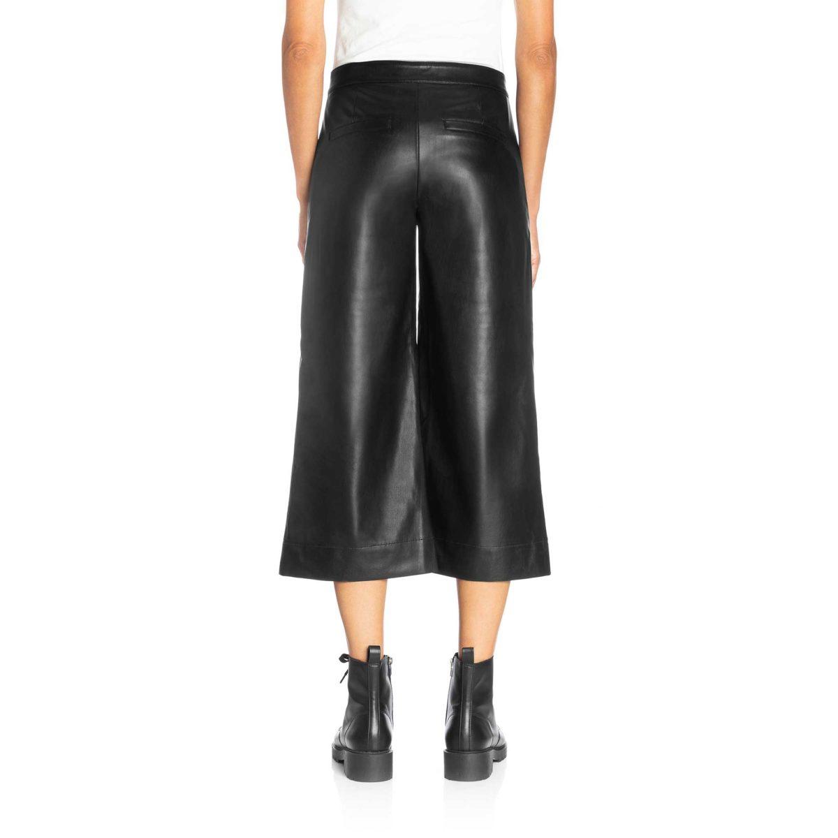 Pantalone Gaucho effetto pelle Nero - Nicla