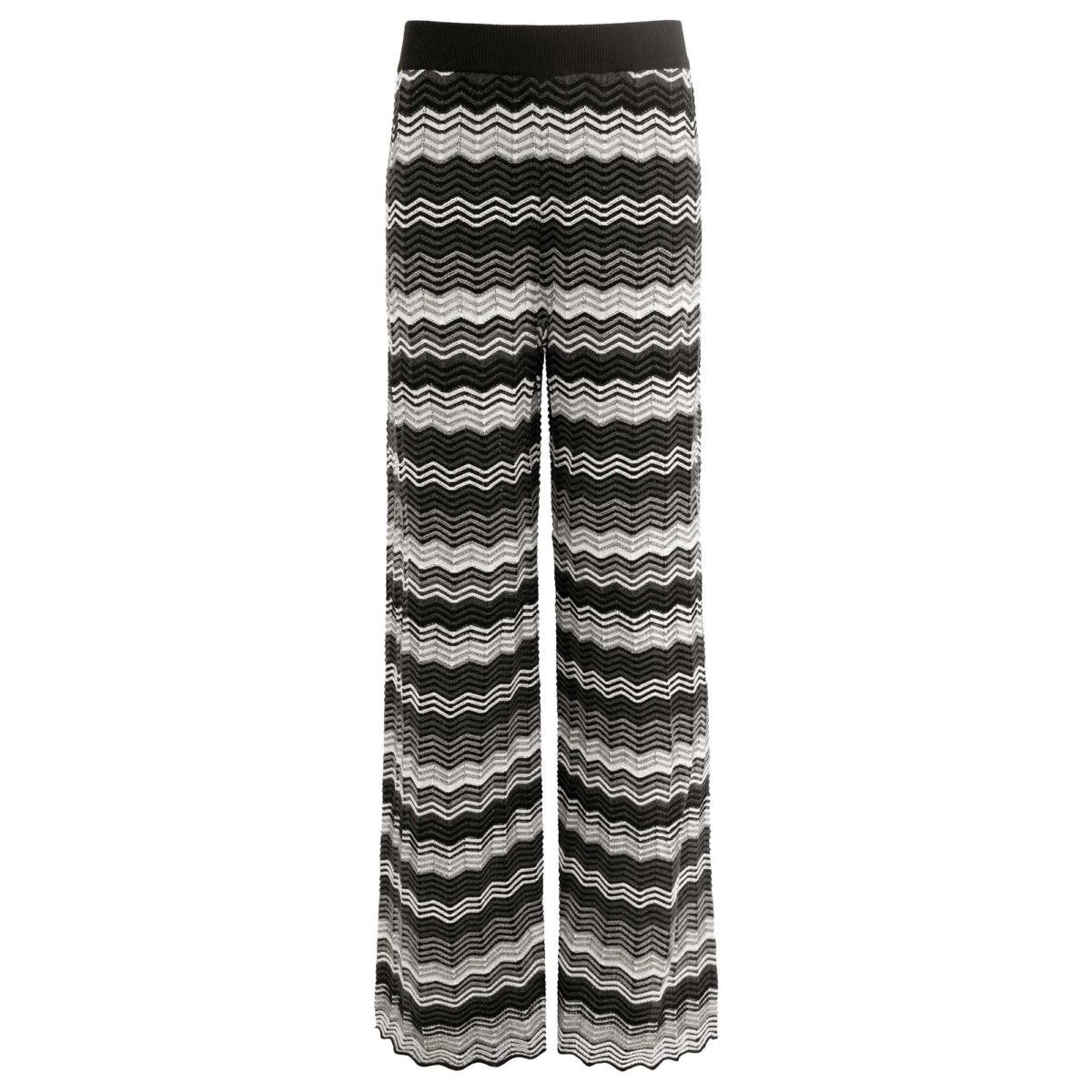 Pantalone Wide leg in maglia Multicolor - vista frontale | Nicla