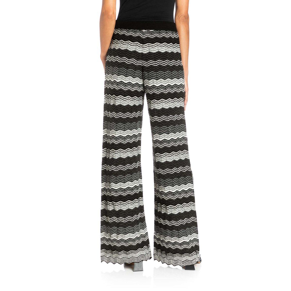Pantalone Wide leg in maglia Multicolor - Nicla