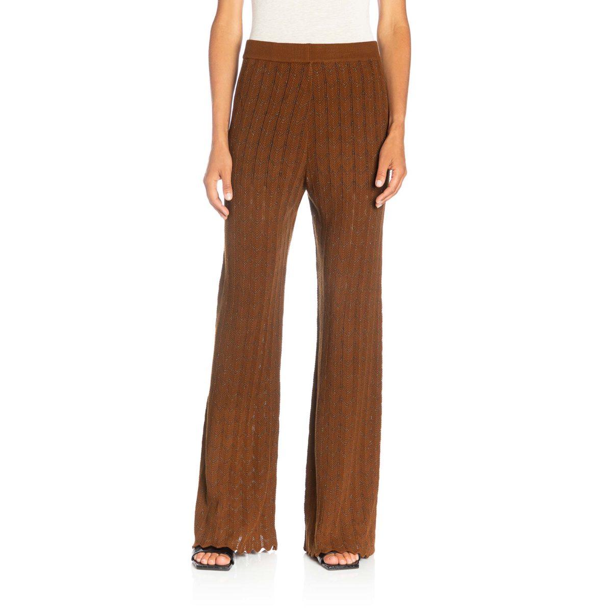 Pantalone Wide leg in maglia Rame - Nicla