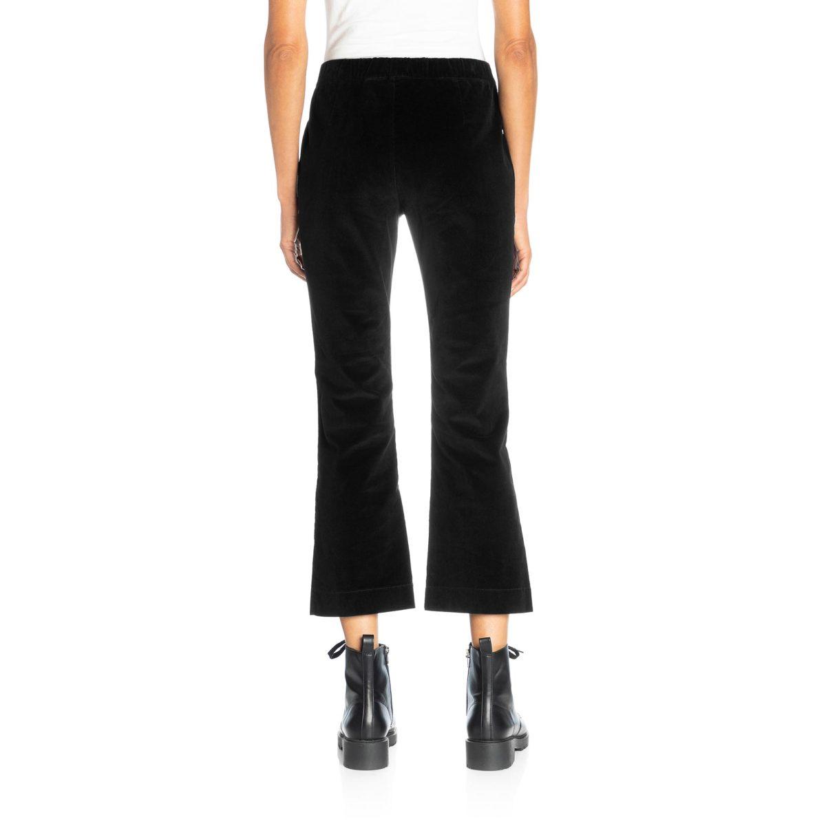 Pantalone Flare in velluto a costine Nero - Nicla