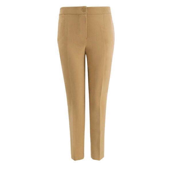 Pantalone Straight Beige - vista frontale | Nicla