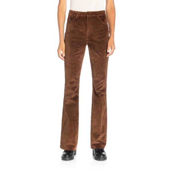 Pantalone Bootcut in velluto a costa larga Blu - Nicla