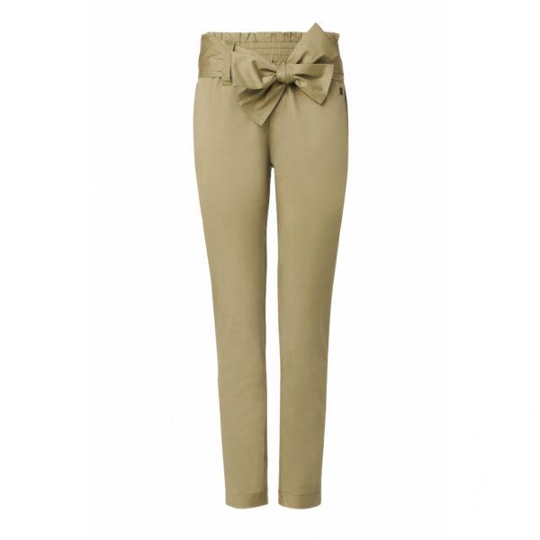 Pantalone con cintura a fiocco Verde - vista frontale | Nicla