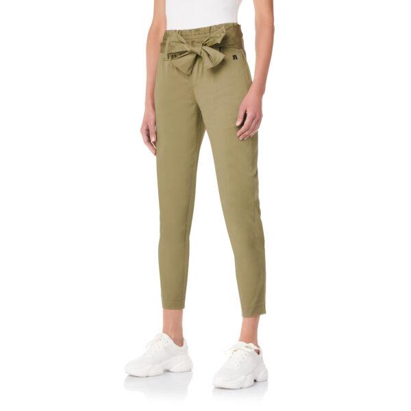 Pantalone con cintura a fiocco Verde - Nicla