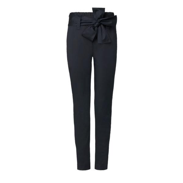 Pantalone con cintura a fiocco Nero - vista frontale | Nicla