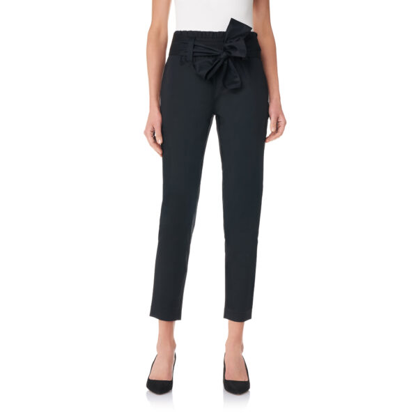 Pantalone con cintura a fiocco Nero - Nicla