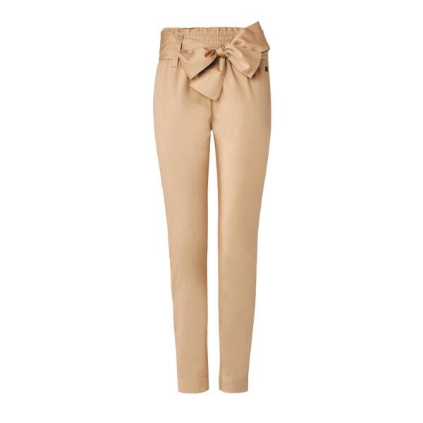 Pantalone con cintura a fiocco Beige - vista frontale | Nicla