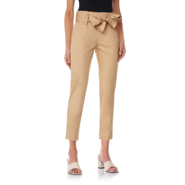 Pantalone con cintura a fiocco Beige - Nicla