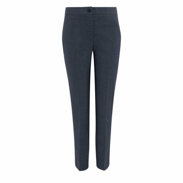 Pantalone Straight melange Blu - vista frontale | Nicla