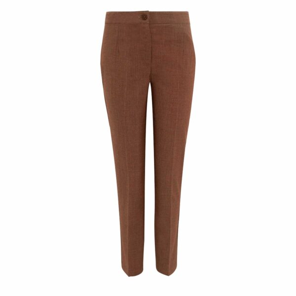 Pantalone Straight melange Rame - vista frontale | Nicla