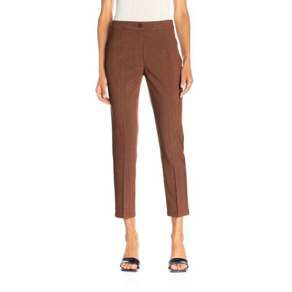 Pantalone Straight melange Rame - Nicla