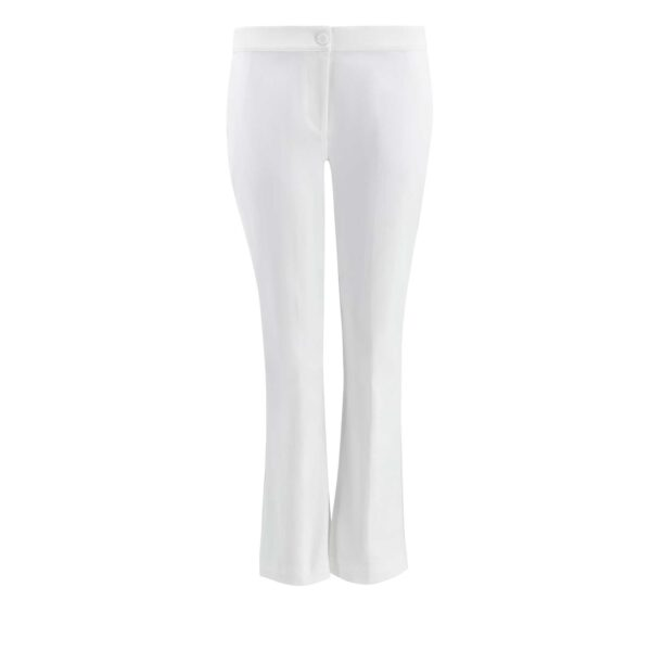 Pantalone Flare bull denim Bianco - vista frontale | Nicla
