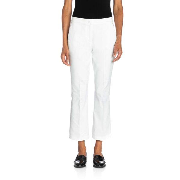 Pantalone Flare bull denim Bianco - Nicla
