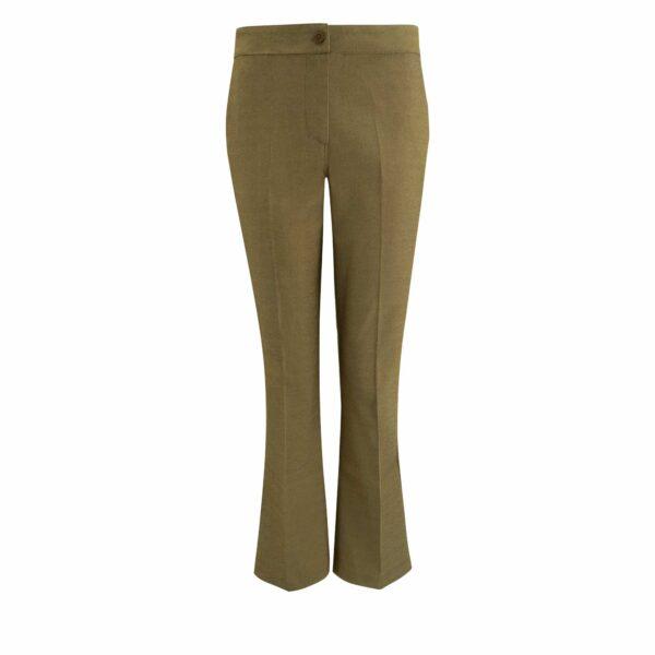 Pantalone Flare bull denim Verde - vista frontale | Nicla