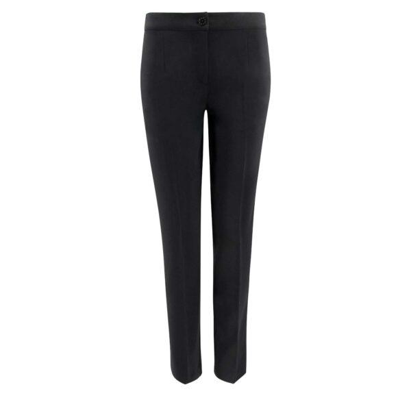 Pantalone Straight Nero - vista frontale | Nicla
