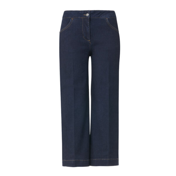 Pantalone Gaucho in denim Denim blu - vista frontale | Nicla
