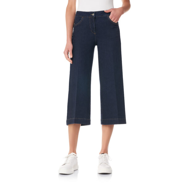 Pantalone Gaucho in denim Denim blu - Nicla