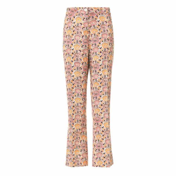 Pantalone Flare a fantasia floreale Multicolor - vista frontale | Nicla