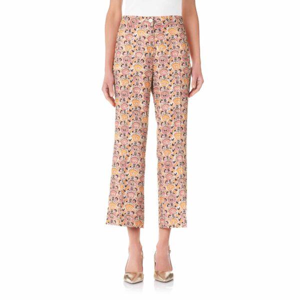Pantalone Flare a fantasia floreale Multicolor - Nicla