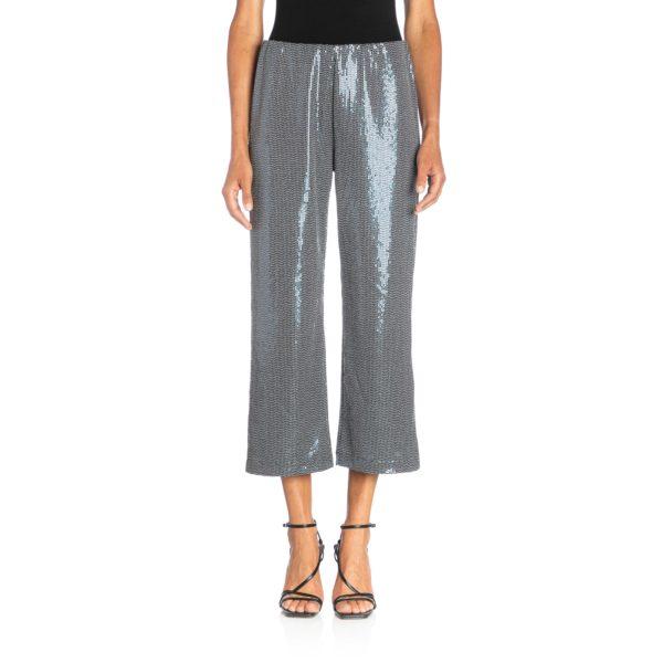 Pantalone Classic con paillettes Blu - Nicla