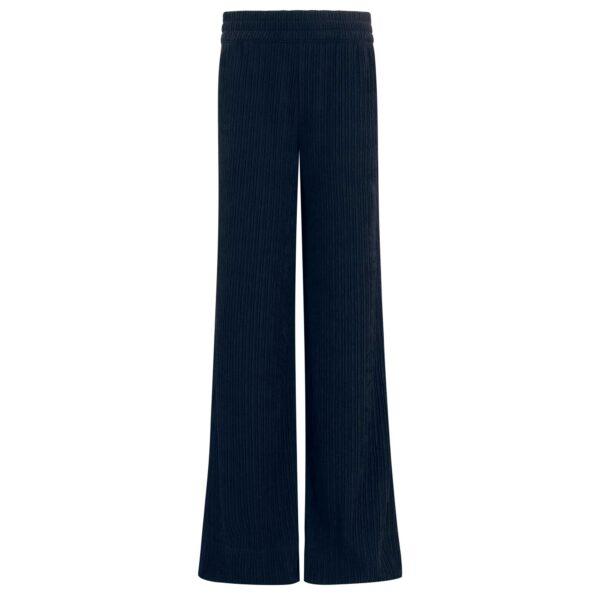 Pantalone Palazzo in jersey plissé Blu - vista frontale   Nicla