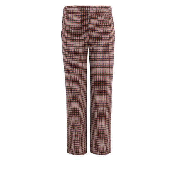 Pantalone Classic a fantasia micro check Multicolor - vista frontale | Nicla