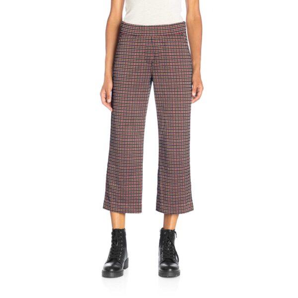 Pantalone Classic a fantasia micro check Multicolor - Nicla