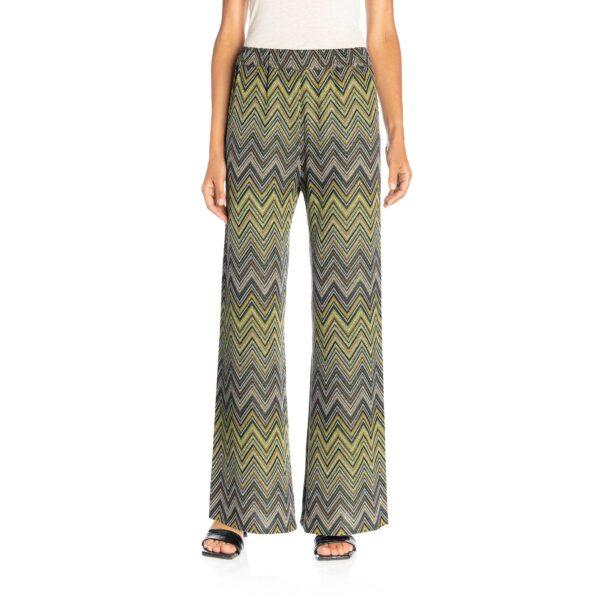 Pantalone Wide leg in maglia Verde - Nicla