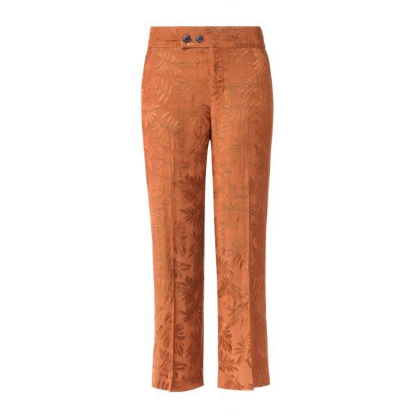 Pantalone Classic a fantasia foliage Rame - vista frontale | Nicla