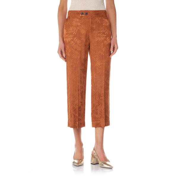 Pantalone Classic a fantasia foliage Rame - Nicla