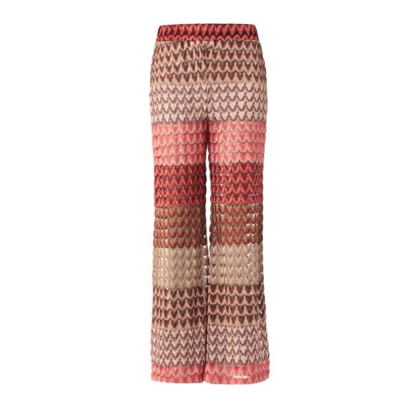 Pantalone Cropped a maglia raschel Multicolor - vista frontale | Nicla