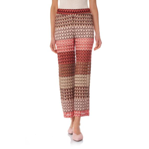 Pantalone Cropped a maglia raschel Multicolor - Nicla
