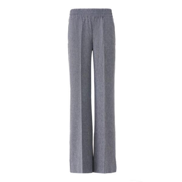 Pantalone Palazzo tessuto effetto chambray Jeans - vista frontale | Nicla