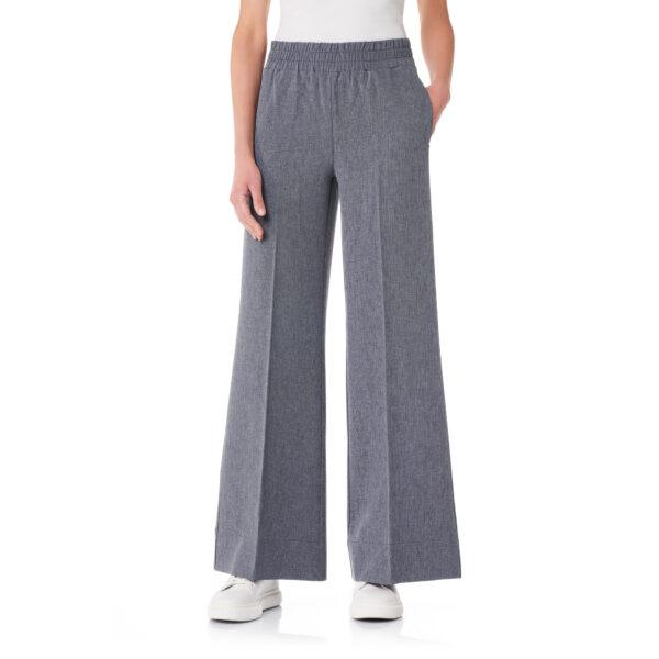 Pantalone Palazzo tessuto effetto chambray Jeans - Nicla