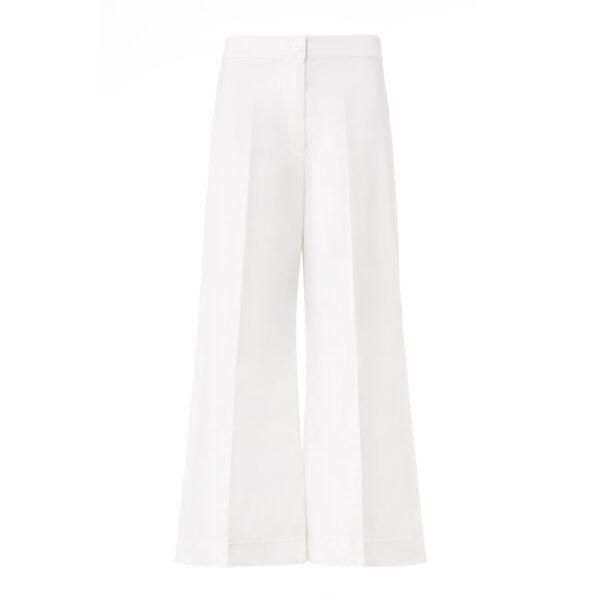 Pantalone Cropped Bianco - vista frontale | Nicla