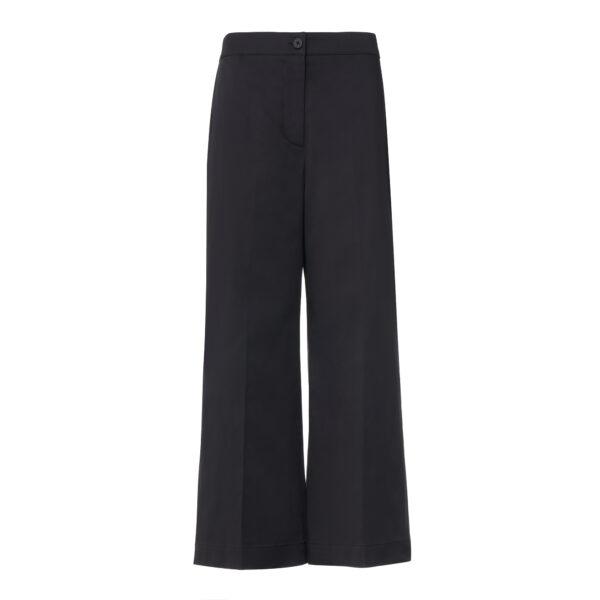 Pantalone Cropped Nero - vista frontale | Nicla