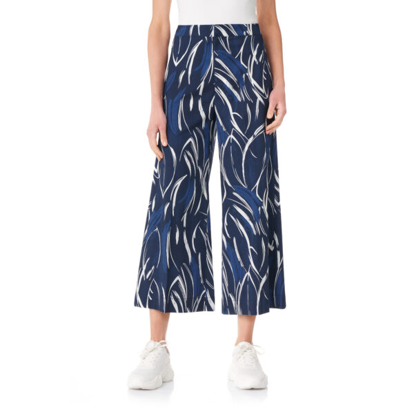 Pantalone Cropped a fantasia jungle Blu - Nicla