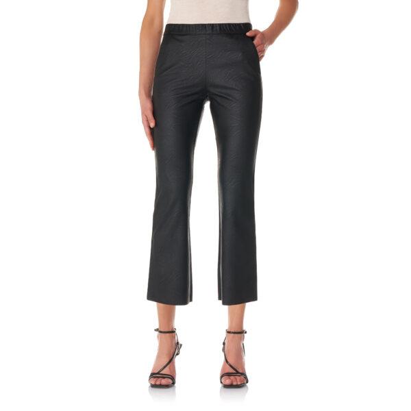 Pantalone Flare effetto pelle Nero - Nicla