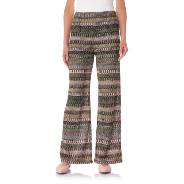 Pantalone Wide leg in maglia raschel Multicolor - Nicla