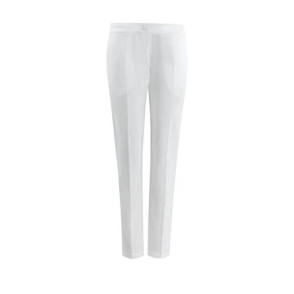 Pantalone Straight Bianco - vista frontale | Nicla