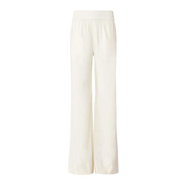 Pantalone Palazzo in misto lino Bianco - vista frontale | Nicla