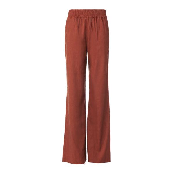 Pantalone Palazzo in misto lino Rame - vista frontale | Nicla