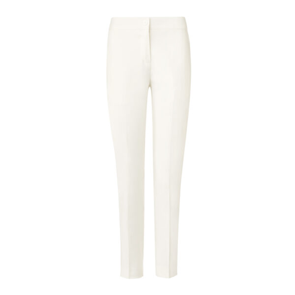 Pantalone Straight in misto lino Bianco - vista frontale | Nicla