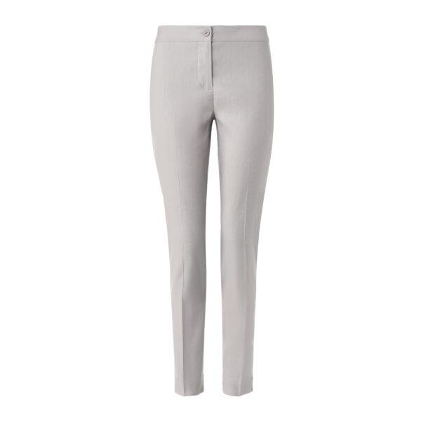 Pantalone Straight in misto lino Grigio - vista frontale | Nicla