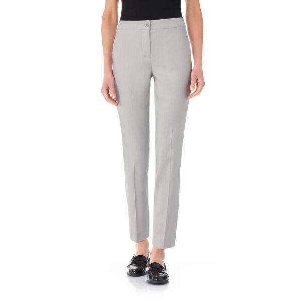 Pantalone Straight in misto lino Grigio - Nicla