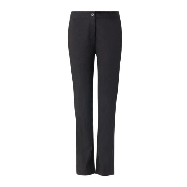 Pantalone Straight in misto lino Nero - vista frontale | Nicla