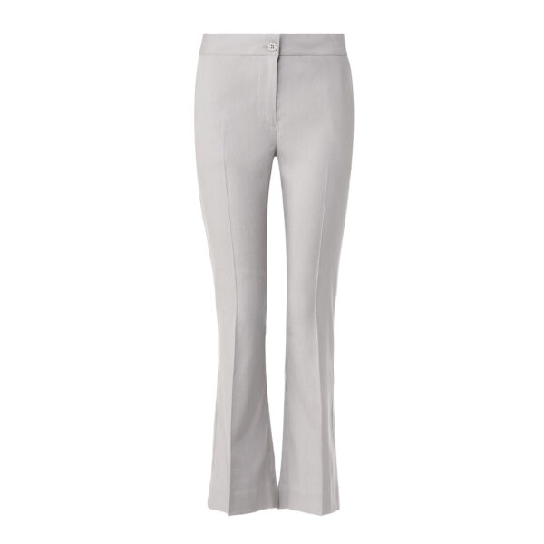Pantalone Flare in misto lino Grigio - vista frontale | Nicla
