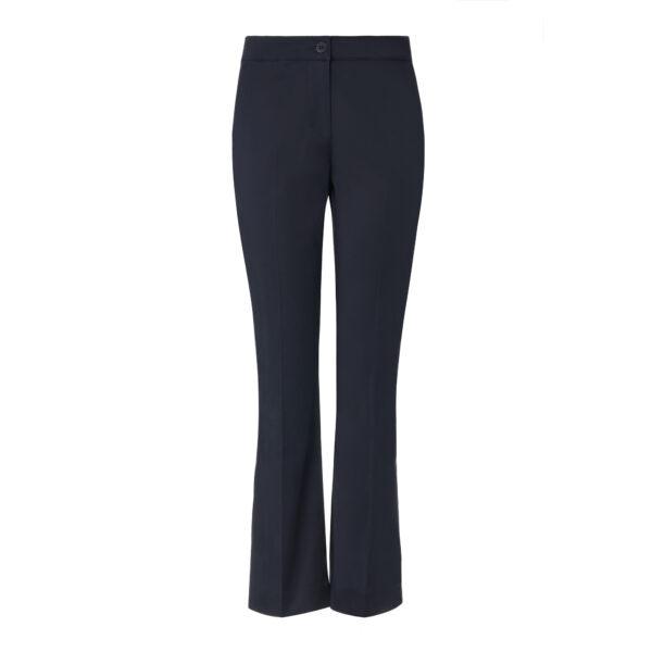 Pantalone Flare in raso di cotone Blu - vista frontale | Nicla