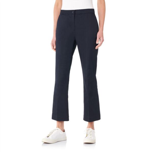 Pantalone Flare in raso di cotone Blu - Nicla